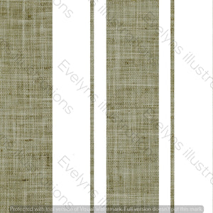 Repeat Illustrated Pattern Digital Download - Non Exclusive | Medium Scale | Olive | Hessian Effect Stripes | 4.5 by 4.5 inches - Evelyns Illustrations