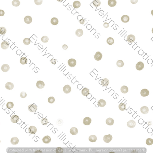 Digital Download - Non Exclusive | Small Scale | Khaki Green | Blush Dots | 2.5 by 2.5 Inches - Evelyns Illustrations