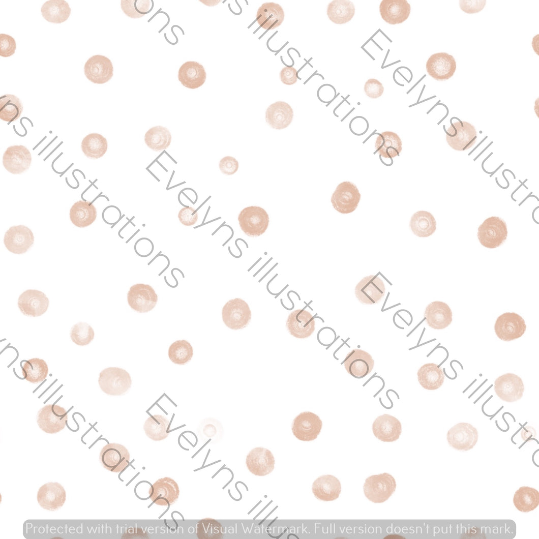 Digital Download - Non Exclusive | Small Scale | Pink | Blush Dots | 2.5 by 2.5 Inches - Evelyns Illustrations