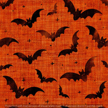 Load image into Gallery viewer, Repeat Illustrated Pattern Digital Download - Non Exclusive | Medium Scale | 2 PACK Orange | Bats | 5 by 5 Inches - Evelyns Illustrations