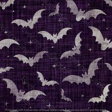 Load image into Gallery viewer, Repeat Illustrated Pattern Digital Download - Non Exclusive | Medium Scale | 2 PACK Purple | Bats | 5 by 5 Inches - Evelyns Illustrations
