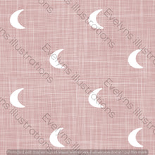 Load image into Gallery viewer, Repeat Illustrated Pattern Digital Download - Non Exclusive | Medium Scale | Blush | Hessian Moons | 6 by 6 Inches - Evelyns Illustrations