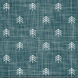 Repeat Illustrated Pattern Digital Download - Non Exclusive | Small Scale | Forest Green | Hessian Trees | 2.6 by 2.6 Inches - Evelyns Illustrations