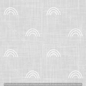 Digital Download - Non Exclusive | Medium Scale | Light Grey | Hessian Rainbows | 6 by 6 Inches - Evelyns Illustrations
