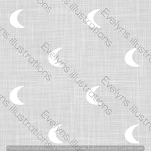 Load image into Gallery viewer, Digital Download - Non Exclusive | Medium Scale | Light Grey | Hessian Moons | 6 by 6 Inches - Evelyns Illustrations