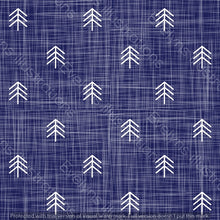Load image into Gallery viewer, Digital Download - Non Exclusive | Small Scale | Royal Blue | Hessian Trees | 2.6 by 2.6 Inches - Evelyns Illustrations