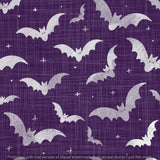 Repeat Illustrated Pattern Digital Download - Non Exclusive | Medium Scale | 2 PACK Purple | Bats | 5 by 5 Inches - Evelyns Illustrations