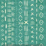 Non Exclusive | Medium Scale | Teal | Mudcloth | 6.5 by 6.5 Inches
