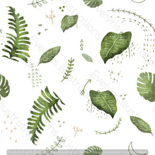 Load image into Gallery viewer, Digital Download - Non Exclusive | Medium Scale | White| The Jungle Tiger Tropcial Leaves | 6 by 6 Inches Jungle Tiger Collection