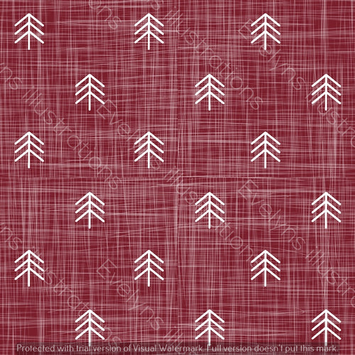Digital Download - Non Exclusive | Small Scale | Ruby | Hessian Trees | 2.6 by 2.6 Inches - Evelyns Illustrations