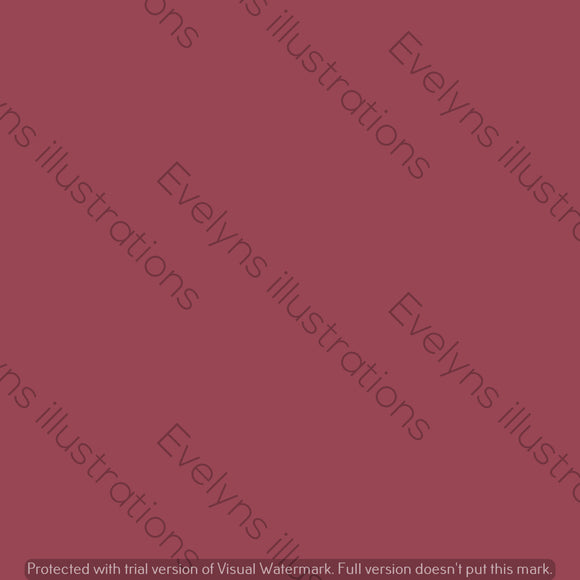 Digital Download - Solid Colour | Deep Red - Evelyns Illustrations