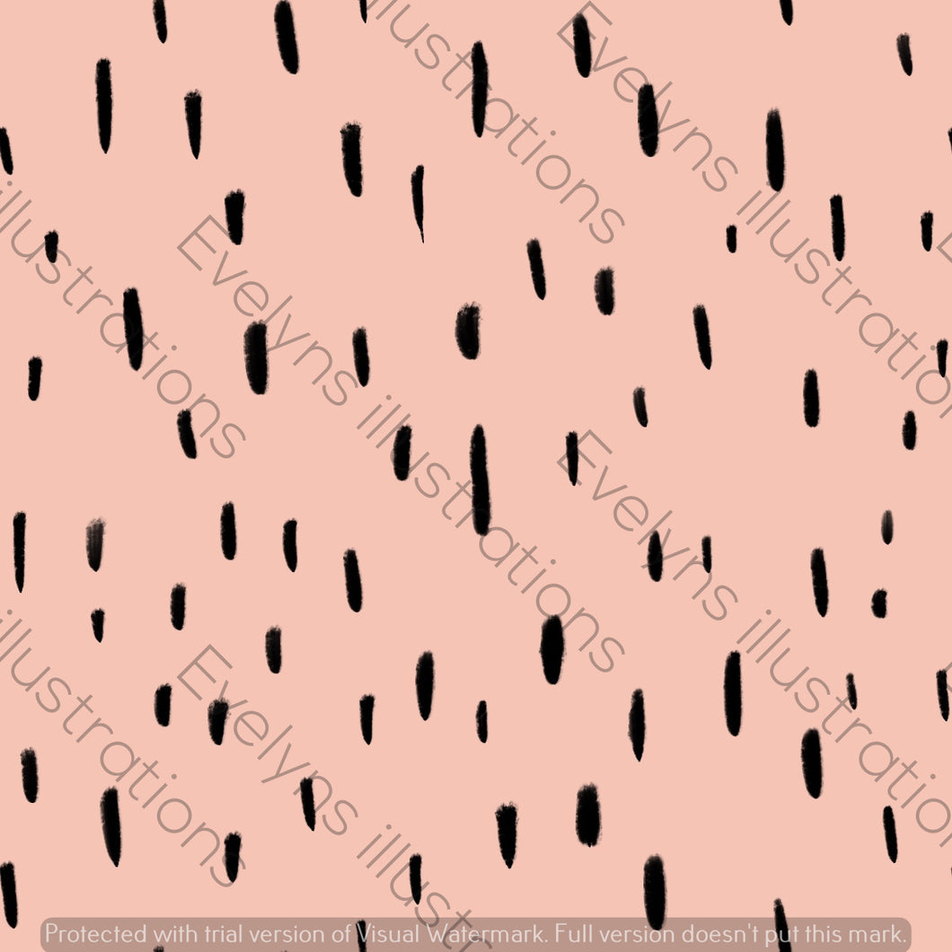Digital Download - Non Exclusive | Medium Scale | Light Pink | Dashes | 5.5 by 5.5 Inches