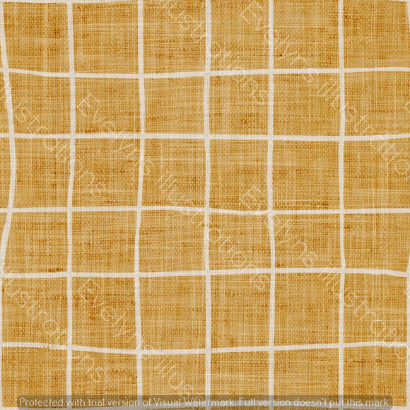 Digital Download - Non Exclusive | Medium Scale | Mustard | Square Grid | 6 by 6 inches