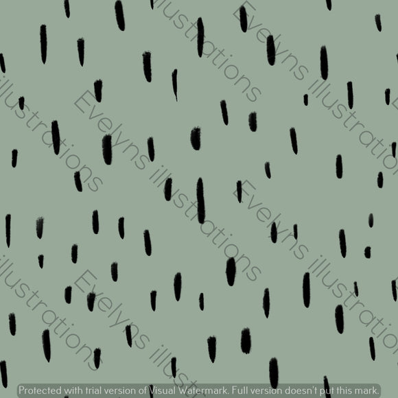 Digital Download - Non Exclusive | Medium Scale | Olive Green | Dashes | 5.5 by 5.5 Inches