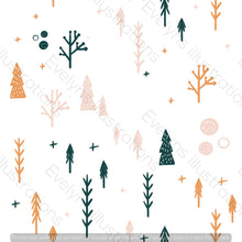Load image into Gallery viewer, Digital Download - Non Exclusive | Medium Scale | White | Scandi Fox Trees | 6 by 6 Inches Scandi Fox Collection