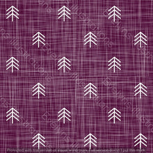 Load image into Gallery viewer, Digital Download - Non Exclusive | Small Scale | Purple | Hessian Trees | 2.6 by 2.6 Inches - Evelyns Illustrations