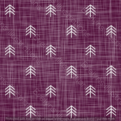 Digital Download - Non Exclusive | Small Scale | Purple | Hessian Trees | 2.6 by 2.6 Inches - Evelyns Illustrations