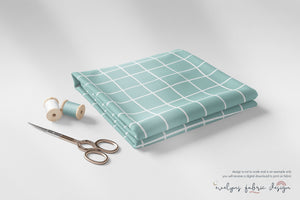 Digital Download - Non Exclusive | Medium Scale | Mint | Square Grid | 6 by 6 inches | Oh Baby Blue Collection