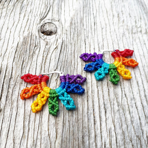 Rainbow Earrings - Small Round Stainless Steel