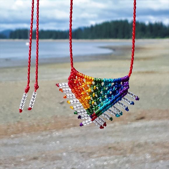 Rainbow Necklace - Rainbow Caress