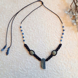 Pendent Necklace - Kyanite and Pearls