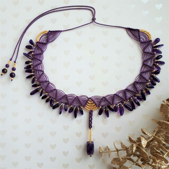 Choker with Amethyst
