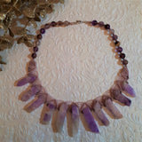 Choker with Amethyst and Lodolite