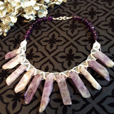 Choker with different Amethysts