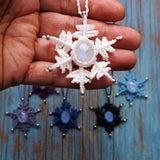 Snowflake necklace with Sterling Silver beads