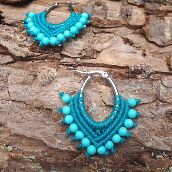 Stainless Steel Earrings with Turquoise