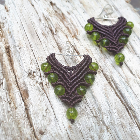 Fine Silver Earrings with Peridot