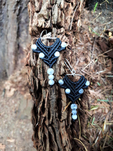 Fine Silver Earrings with Moonstone