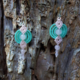 Fine Silver Earrings with Rose Quartz