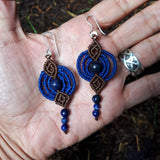 Fine Silver Earrings with Lapis Lazuli