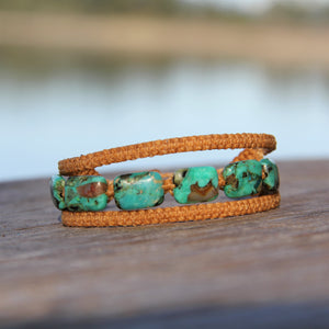 Earthy Embrace with African Turquoise