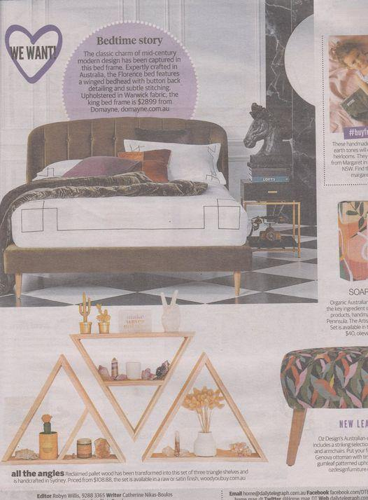 Triangle Shelves at The Daily Telegraph Sydney - Woodyoubuy