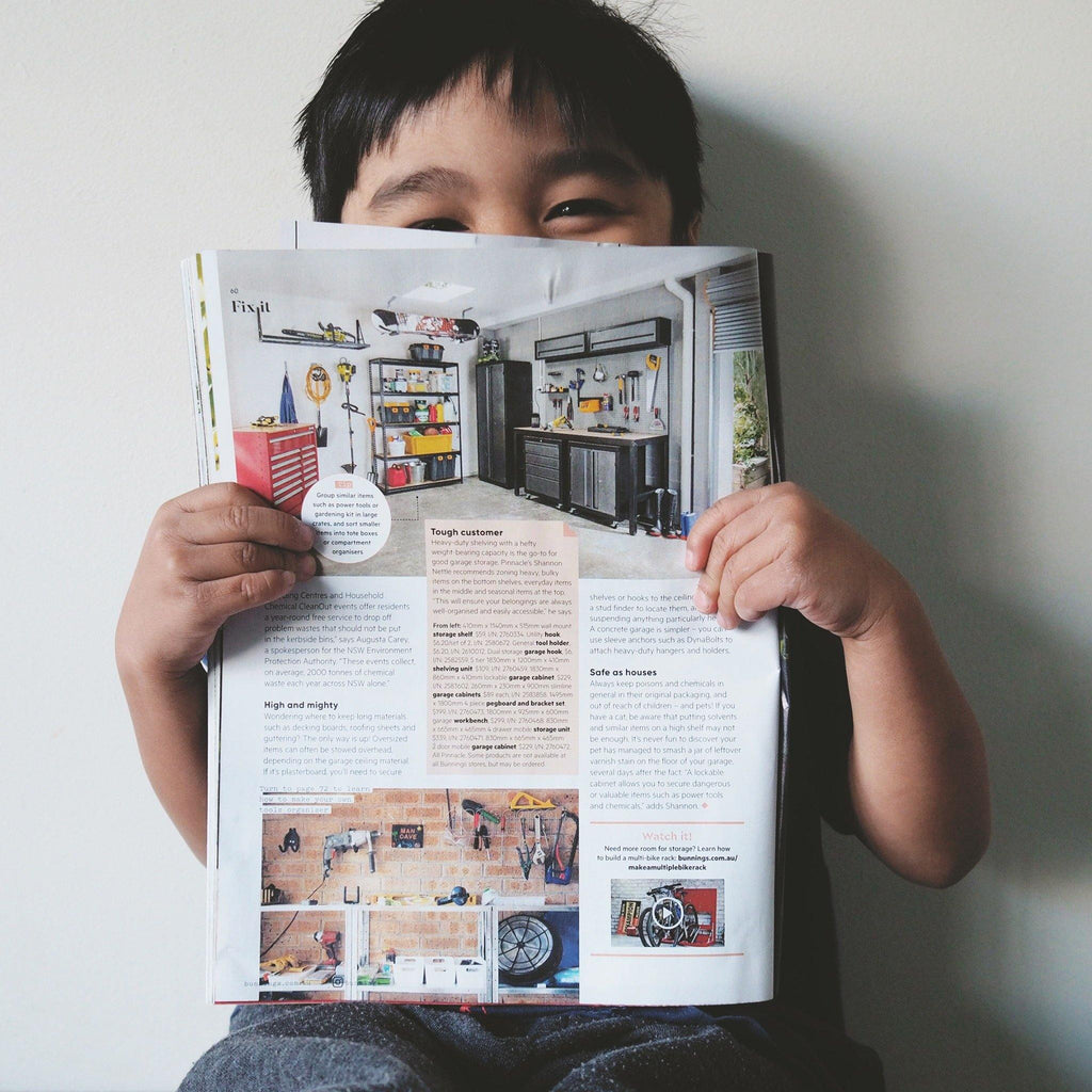 Our very first workshop featured at Bunnings Magazine - Woodyoubuy