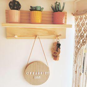 Coat Rack Entryway Organiser Shelf (Pine) 40cm - Woodyoubuy