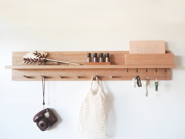 All-In-One Entryway Organizer (100cm, Tasmanian Oak)
