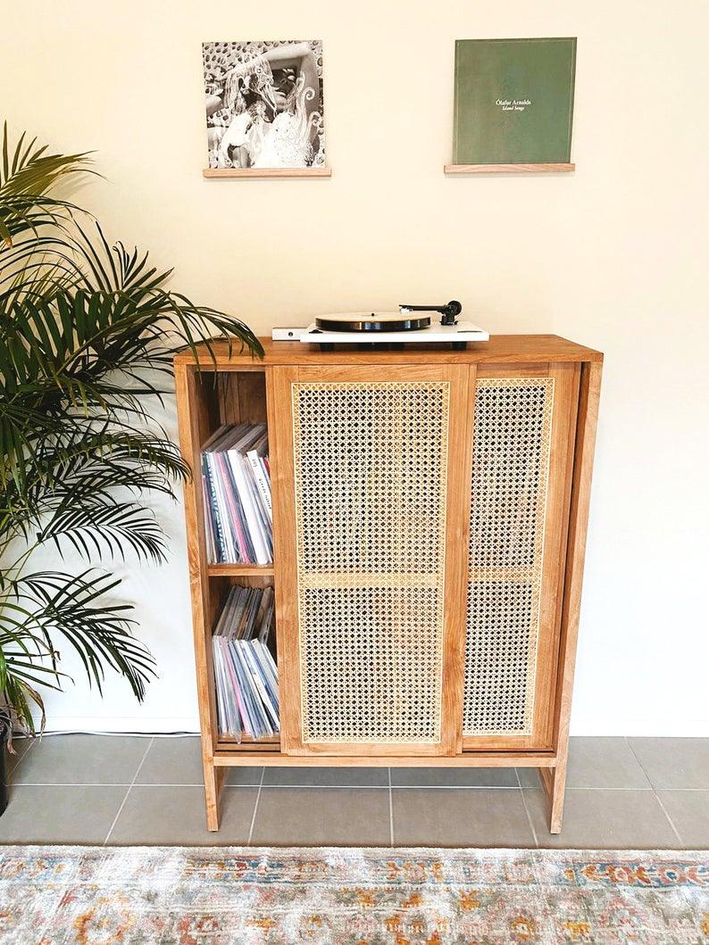 Vinyl Record Display Shelf