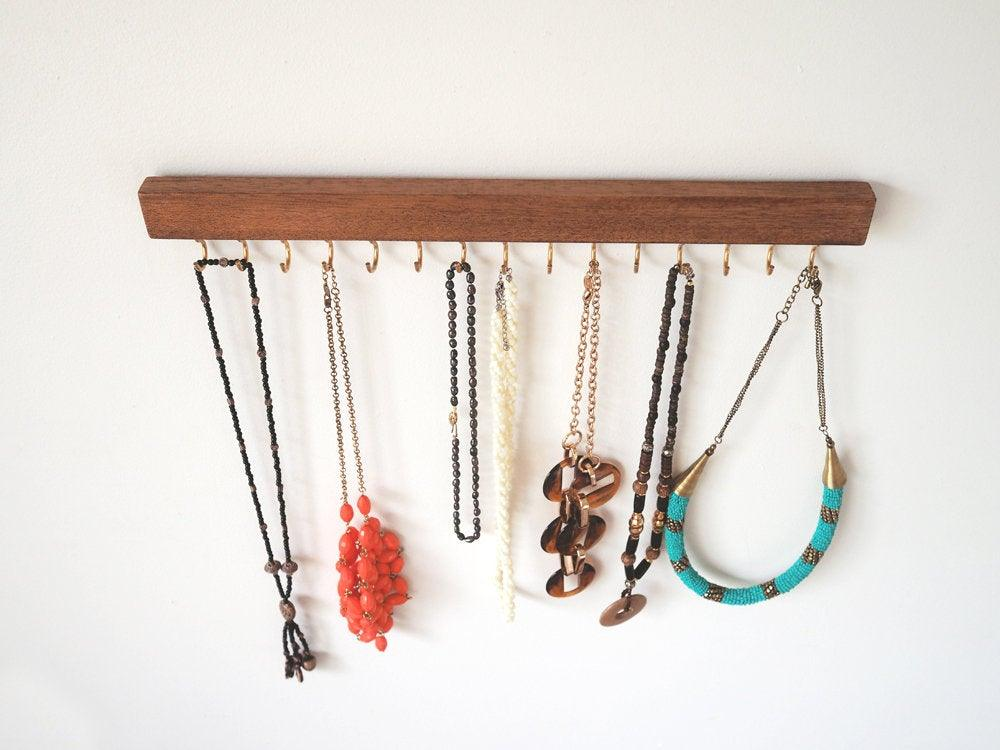 Necklace Holder (Merbau Wood)