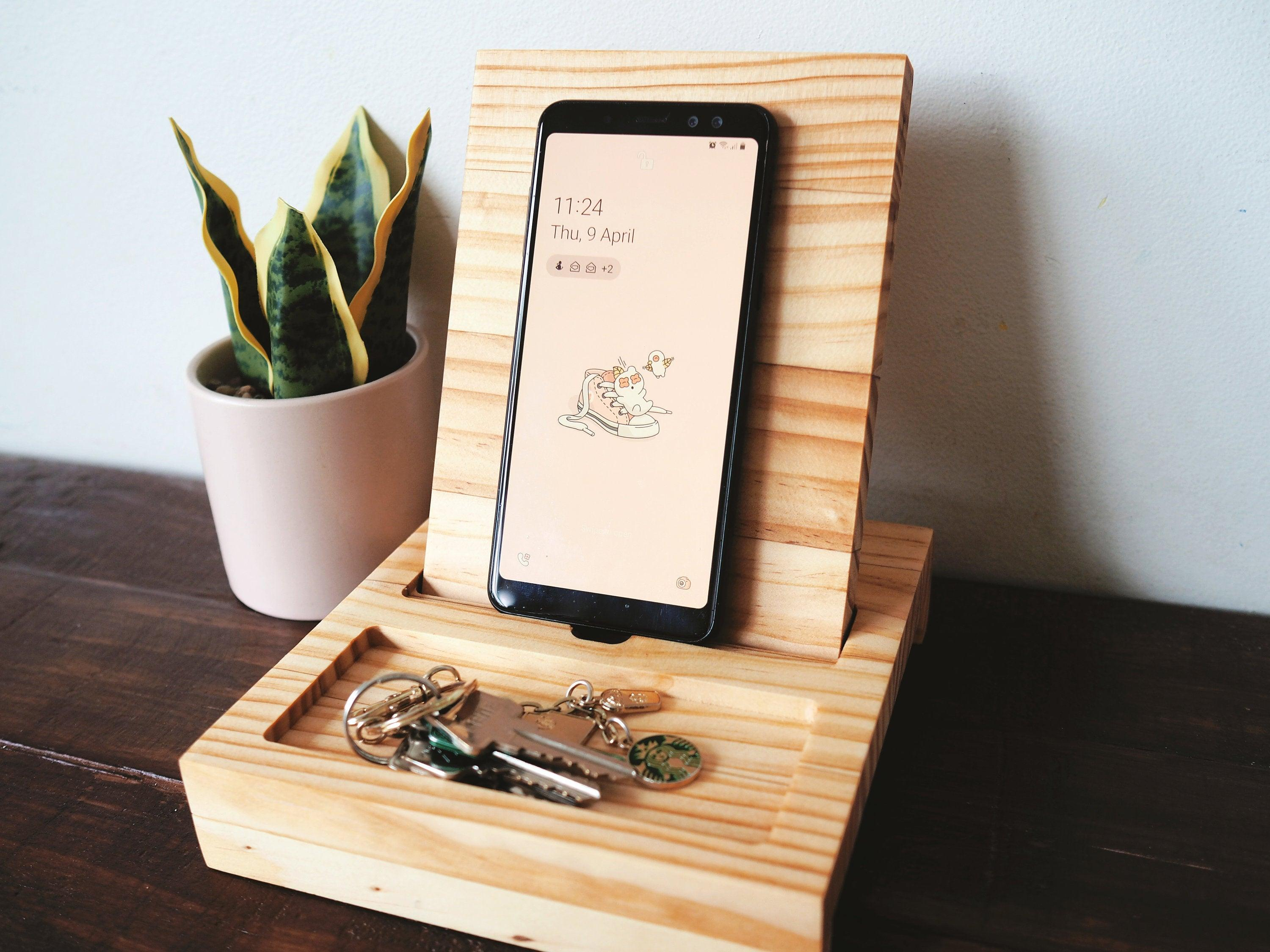Phone Charging Station with Dish Tray