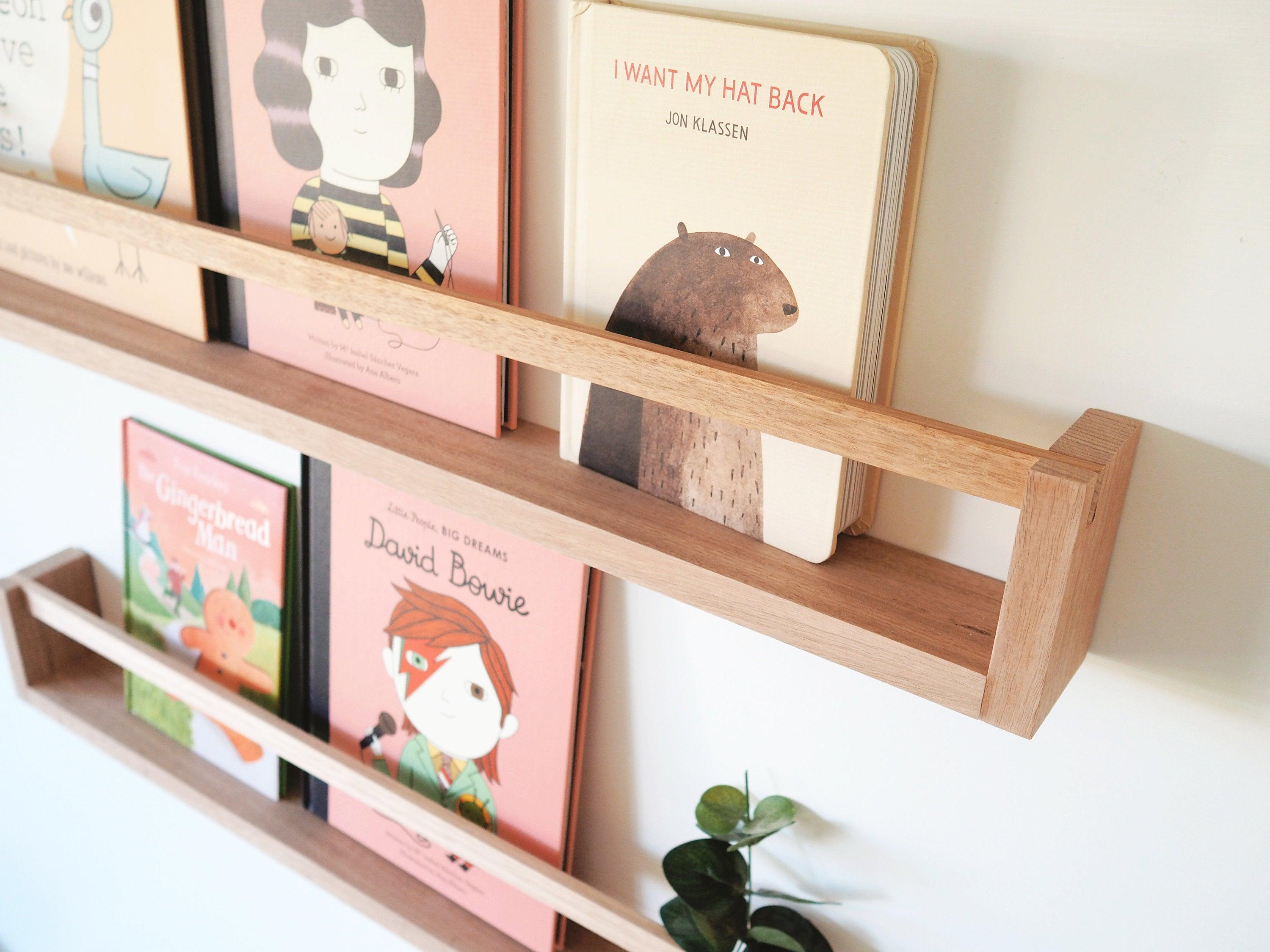 Kids Bookshelf with Flat Peg (Oak) Natural Wood Colour