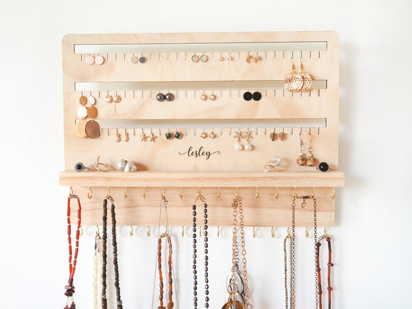 Jewelry Organizer - Jewelry Holder, Mother's Day Gift, Jewelry Organization, Earring Holder, Jewelry Display, Earring Organizer