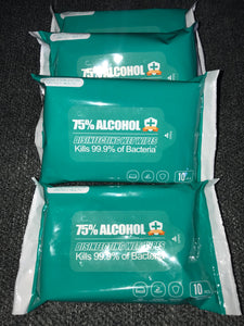 75% Alcohol Wipes 10 Pcs/bag