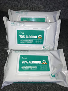 75% Alcohol Wipes 40Pcs