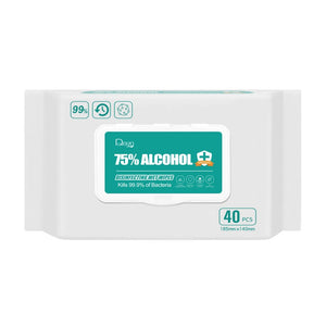 75% Alcohol Disinfectant Wet wipes 5Pack of 40 wipes (200 wipes)