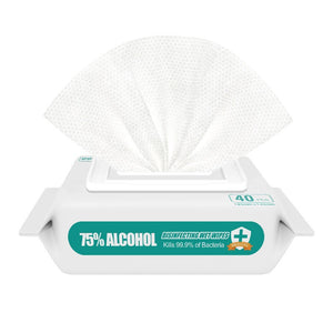 75% Disinfectant Wet wipes 5Pack of 40 wipes (200 wipes)-20% donation