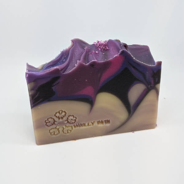 Night Violet hand and body soap by Woolly Bath.
