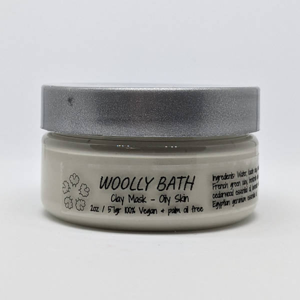 Clay mask for oily skin by Woolly Bath.